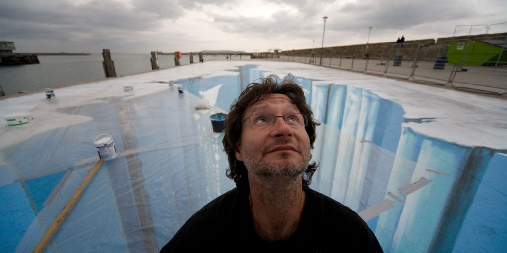 Sang Maestro Edgar Mueller : Pelukis Jalanan Dengan Berbagai Lukisan 3D Street